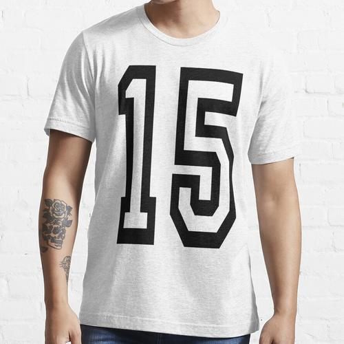 15, TEAM SPORTS, NUMBER 15, FIFTEEN, FIFTEENTH, Competition, Essential T-Shirt