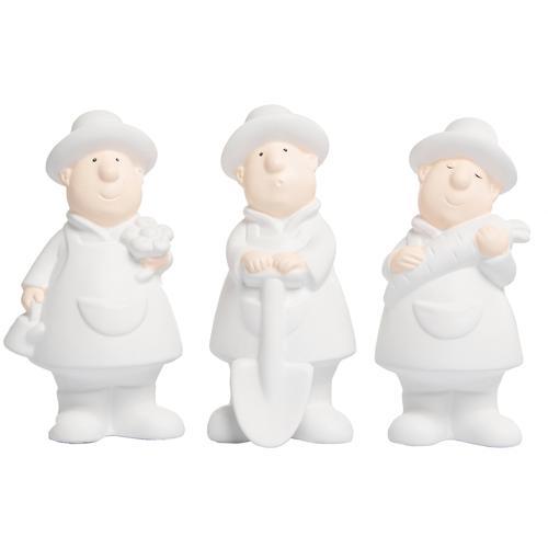 VALENTINO Wohnideen Dekofigur Gärtner Fritz weiß Figuren Skulpturen