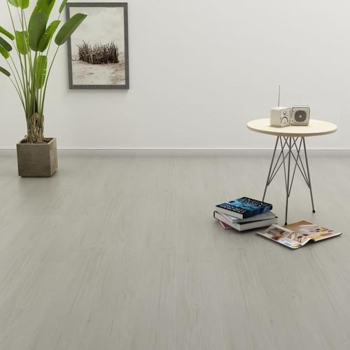 vidaXL PVC Laminat Dielen Selbstklebend 4,46 m² 3 mm Hellgrau