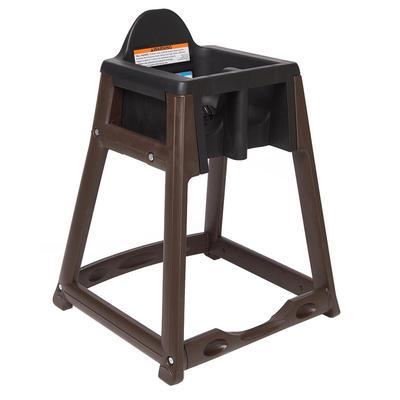 "Koala Kare KB966-02 27"" High Chair/Infant Seat Cradle w/ Waist Strap - Plastic, Brown/Black"