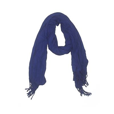 Scarf: Blue Solid Accessories