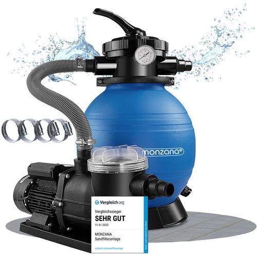 Deuba - Monzana Sandfilteranlage mit Vorfilter XXL Tank 9.600 l/h Filteranlage Pool Sandfilter
