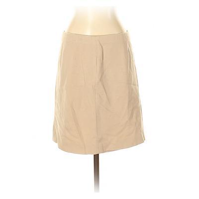 Ann Taylor Wool Skirt: Tan Solid...