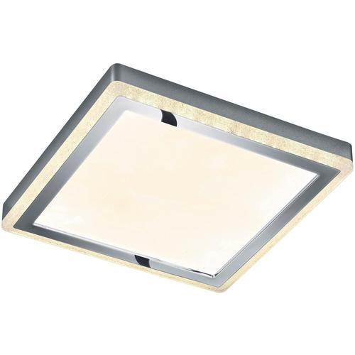 TRIO Leuchten LED Deckenleuchte Slide, LED-Board, Getrennt schaltbar,Fernbedienung,integrierter Dimmer,Nachtlicht,RGBW-Farbwechsler weiß LED-Lampen LED-Leuchten SOFORT LIEFERBARE Lampen