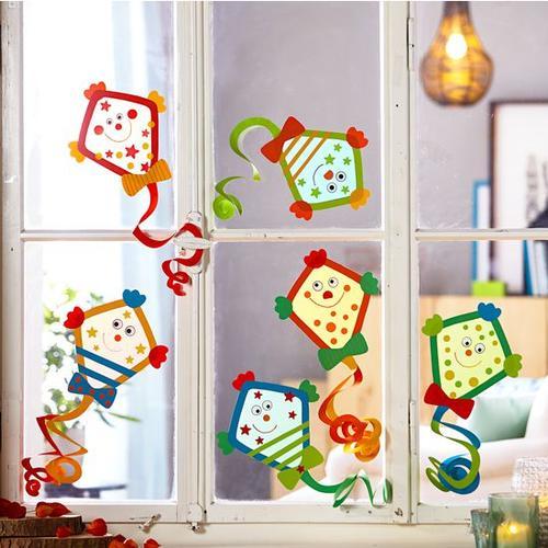 JAKO-O Fensterbilder Drachen, bunt