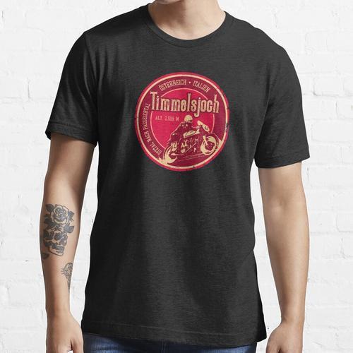 Timmelsjoch - Passo Del Rombo - Österreich-Italien Motorrad T-Shirt + Aufkleber Essential T-Shirt