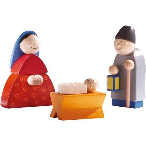 JAKO-O Krippenfiguren Maria, Josef, Kind in Krippe, bunt