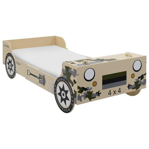 vidaXL Kinderbett im Geländewagen-Design 90×200 cm Camouflage