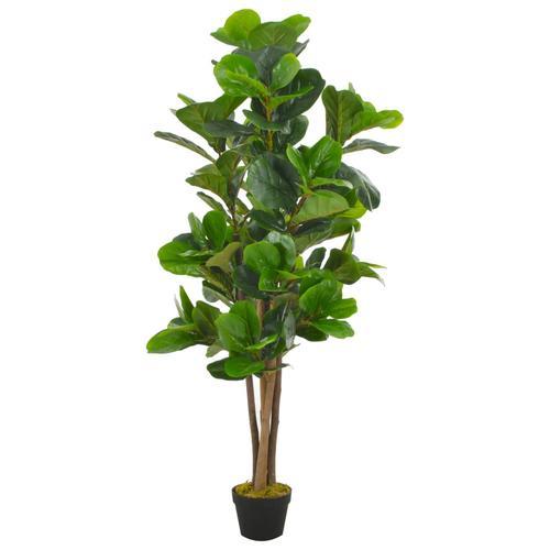 vidaXL Künstliche Pflanze Geigen-Feige mit Topf Grün 152 cm