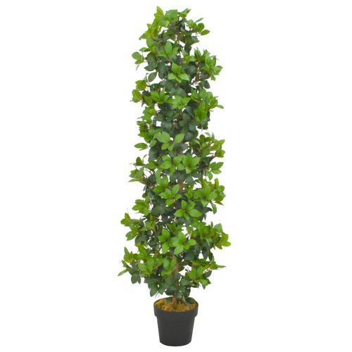 vidaXL Künstliche Pflanze Lorbeerbaum mit Topf Grün 150 cm