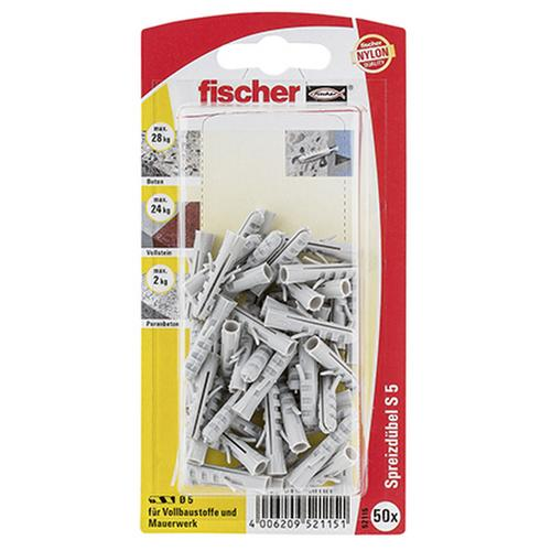 Fischer fischer Dübel S 5 50 Stück