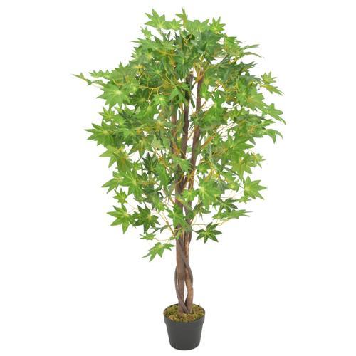 vidaXL Künstliche Pflanze Ahornbaum mit Topf Grün 120 cm