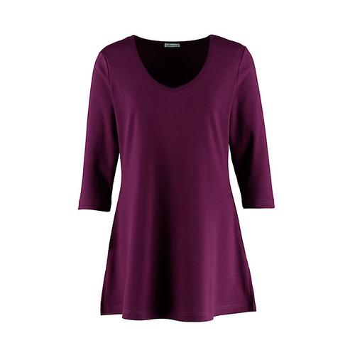 Deerberg Damen Jersey-Shirt Josi dunkelpurpur