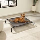 FurHaven Reinforced Elevated Dog Bed, Espresso, Small