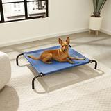 FurHaven Reinforced Elevated Dog Bed, Deep Blue, Small