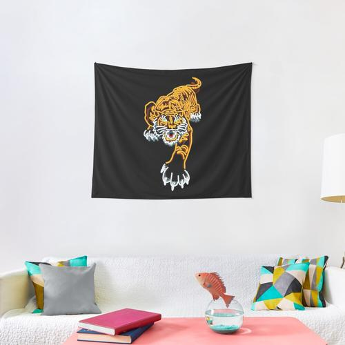 Tiger Neon Wall Tapestry