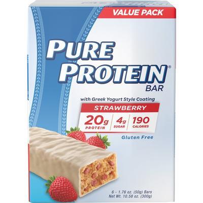 Pure Protein Pure Protein Strawberry Greek Yogurt-6 Bars