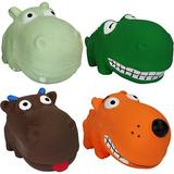 Multipet Mini Latex Animals Squeaky Plush Dog Toy, Character Varies, 1 count