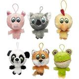 Multipet Knobby Noggins Squeaky Plush Dog Toy, Character Varies