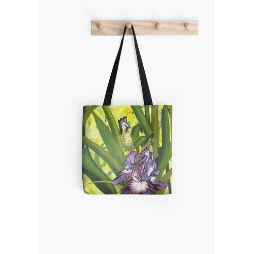 Helle Iris in Lila Tasche