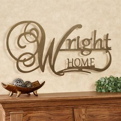 Affinity Home Personalized Metal Wall Art Sign Home, Home, Champagne Gold