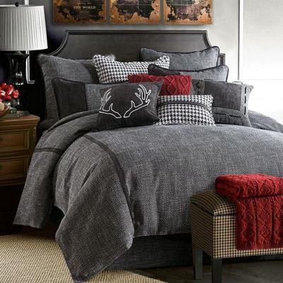 Hamilton Comforter Set Black, Twin, Black