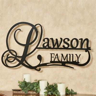 Affinity Family Personalized Metal Wall Art Sign Family, Family, Champagne Gold