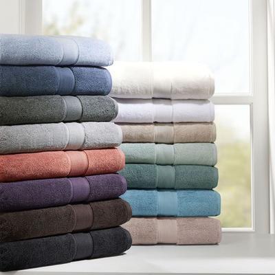 Indulgence Bath Towel Set 8 Piece Set, 8 Piece Set, Coral
