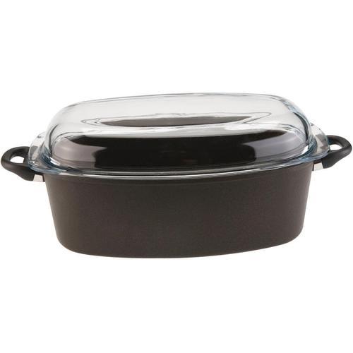 SKK Bräter Serie 9, Aluminiumguss, (1 tlg.), oval schwarz Töpfe Haushaltswaren