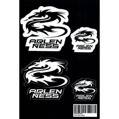 Arlen Ness Dragon Aufkleber Set, schwarz-weiss