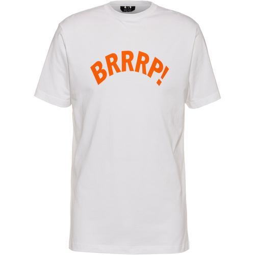 Gym Yilmaz BRRRP! x SportScheck T-Shirt in white-orange, Größe M