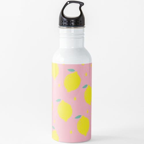 Süße Zitrone Wasserflasche