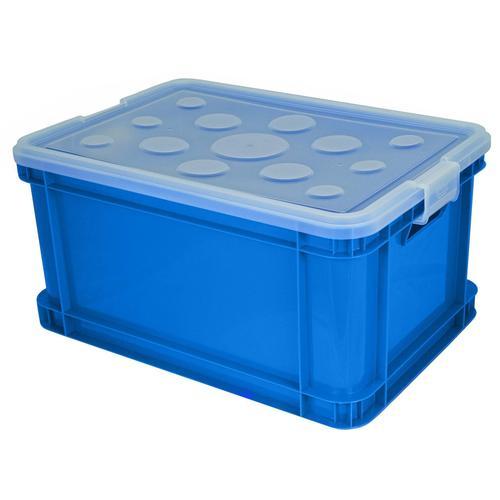 Gies Aufbewahrungsbox, (Set, 3 St.), 45 Liter blau Kleideraufbewahrung Aufbewahrung Ordnung Wohnaccessoires Aufbewahrungsbox