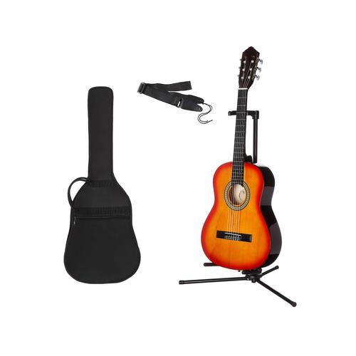 Gitarrenset Konzertgitarre, 1/4, inkl. Gitarrentasche und Gitarrengurt braun Audio SOFORT LIEFERBARE Technik