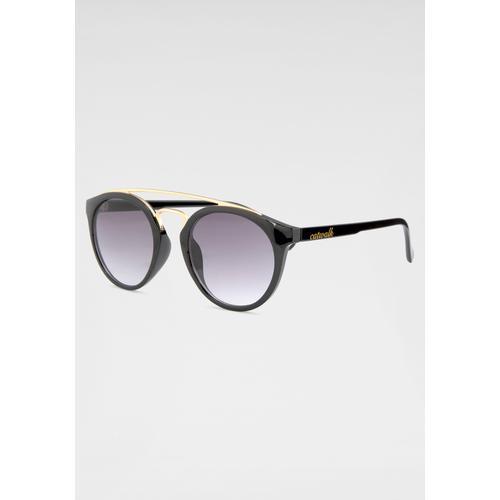 catwalk Eyewear Retrosonnenbrille, Retro Look, Circular schwarz Damen Runde Sonnenbrille Sonnenbrillen Accessoires Retrosonnenbrille