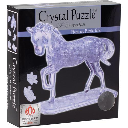 HCM KINZEL 3D-Puzzle Crystal Puzzle, Pferd transparent farblos Kinder Ab 12-15 Jahren Altersempfehlung