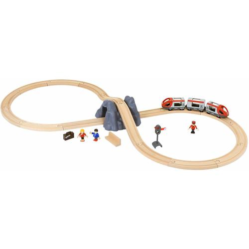 BRIO Spielzeug-Eisenbahn WORLD Eisenbahn Starter Set A, mit Spielzeugeisenbahn; Made in Europe, FSC-Holz aus gewissenhaft bewirtschafteten Wäldern beige Kinder Ab 3-5 Jahren Altersempfehlung
