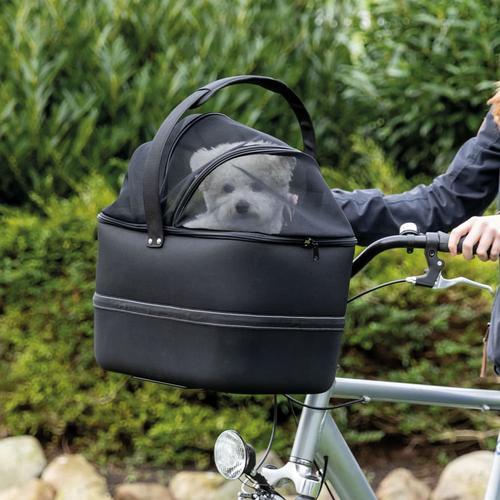 TRIXIE Fahrradkorb Vorne für Haustiere 41x47x29 cm Schwarz