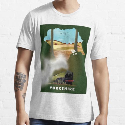 Yorkshire-Eisenbahnplakat Essential T-Shirt