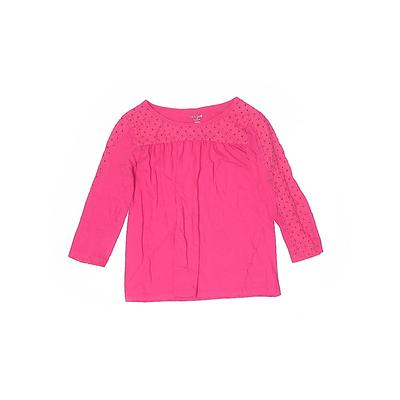 Cat & Jack 3/4 Sleeve T-Shirt: Pink Solid Tops - Size 14