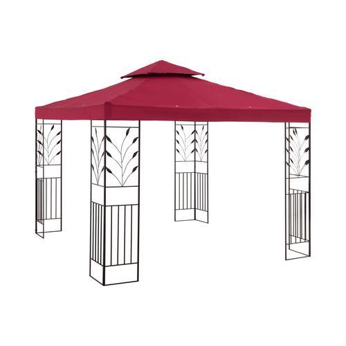 Uniprodo Gartenpavillon - 3 x 3 m - 180 g/m² - weinrot UNI_PERGOLA_3X3R