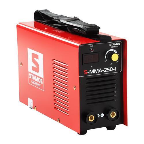 Stamos Basic Elektroden-Schweißgerät - 250 A - 230 V - IGBT - 60 % ED S-MMA-250-I