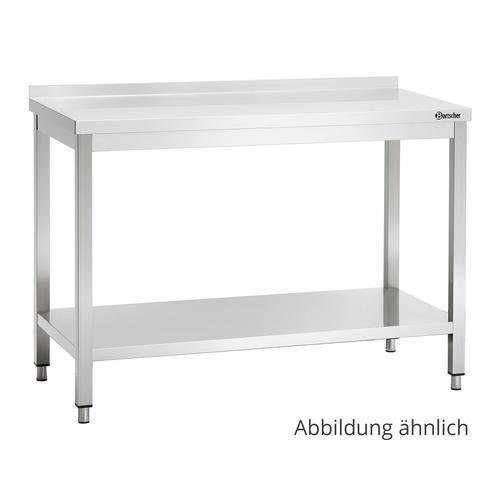 Bartscher Arbeitstisch 600 - B 1500mm - mit Aufkantung 308156