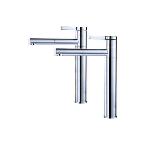 2er Wasserhahn Bad hoch Doppelt 360° drehbar Waschtischarmatur Mischbatterie Bad Waschtisch Armatur