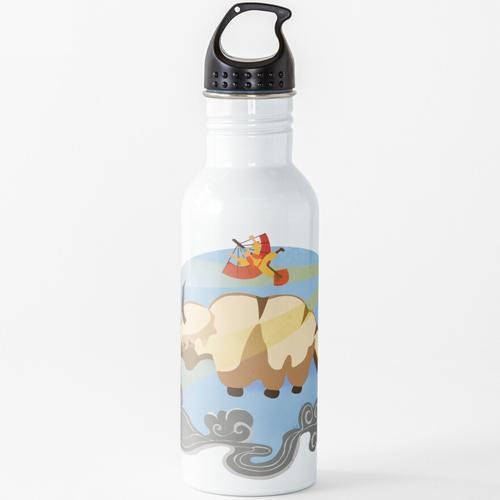 Das fliegende Duo Wasserflasche