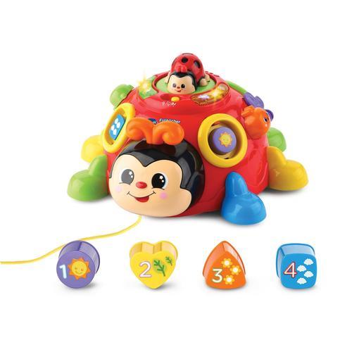 Vtech Lernspielzeug Fröhlicher Lernkäfer, mit Licht & Sound bunt Kinder Activity Center Trapeze Baby Kleinkind