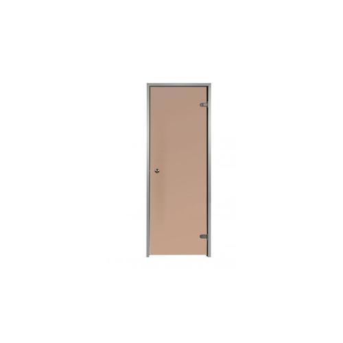 Tür für Hammam Bronze 60 x 190 cm mit Aluminiumrahmen 1