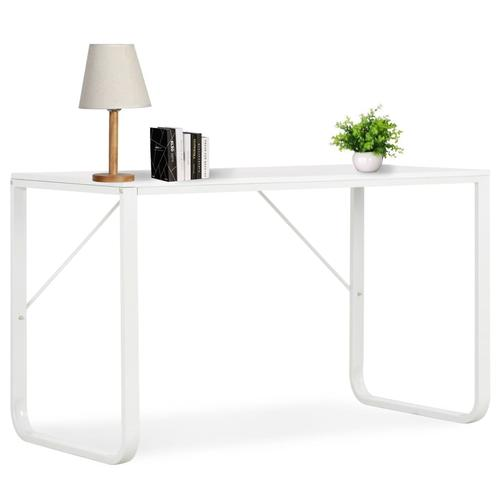 vidaXL Computertisch Weiß 120 x 60 x 73 cm