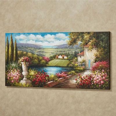 Tuscany in Bloom Canvas Art Multi Warm , Multi Warm