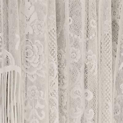 Queens Lace Scalloped Valance 56 x 24, 56 x 24, Antique White